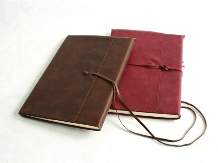 Hand-finished A4 leather notebook